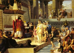 Solomon and the Queen Of Sheba by Giovanni Demin, 1789-1859 (click to enlarge)