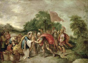 The Meeting of Abraham and Melchizedek by Frans II Francken, 1581-1642 (click to enlarge)