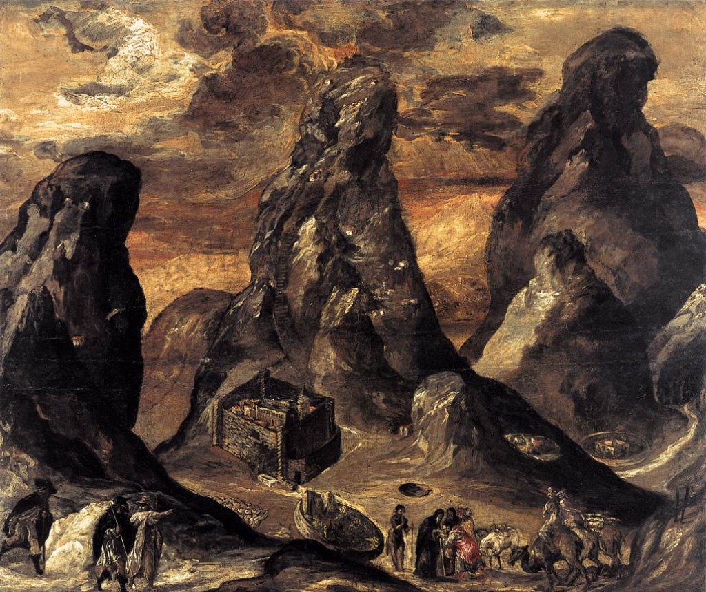Mount Sinai by El Greco, 1541-1614 (click image to enlarge)