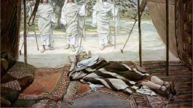 """Abraham and the Three Angels"" by James Tissot, 1896-94 (click to enlarge)"