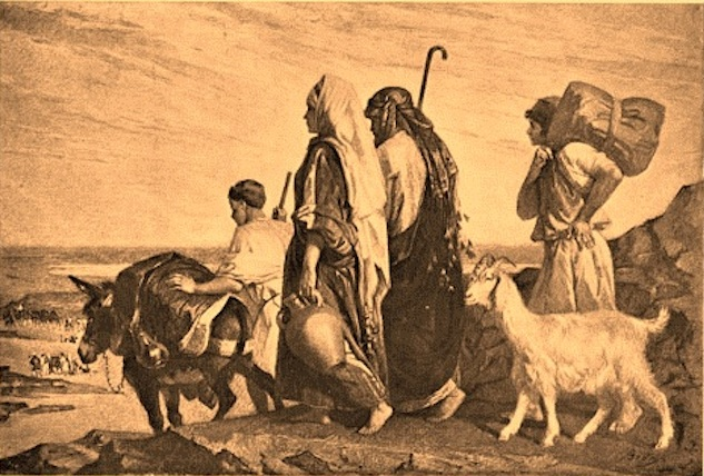 """Elimelech and Naomi Journey to Moab with Their Two Sons"" by Alexandre Bida (1808-95)"