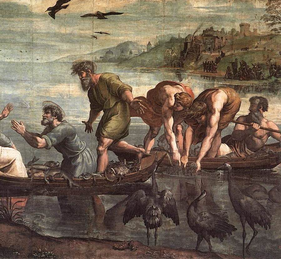 Miraculous Draught of Fish by Raphael (1515)