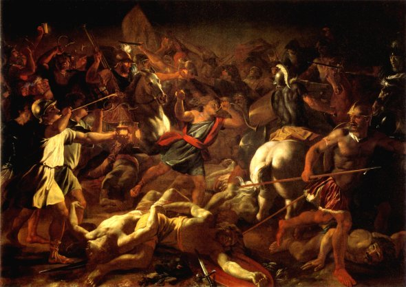 Battle of Gideon Against the Midianites by Nicolas Poussin, 1626 (click image to enlarge)